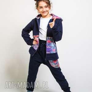 komplet bluza i spodnie mosaic 134-152 cm, dresowy, dres dziewczęcy