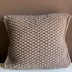 poduszka ze sznurka bawełnianego hania 40x40 cm, poduszka, poduszki