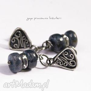 gaya pracownia kyanit w srebrze, kyanit, oponki, moneta, srebro, oksydowane