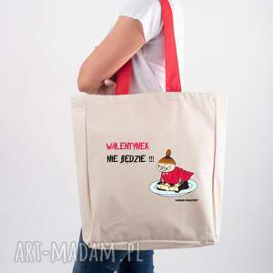 handmade licencjonowana torba xxl muminki z czerwonym walentynek nie będzie mała