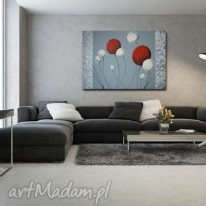 pod choinkę prezent, dmuchawce 7 xxl -100x70cm, obraz, duży, dmuchawce, płótnie dom