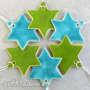handmade pomysł na upominek świąteczny gwiazdki - zestaw zawieszek