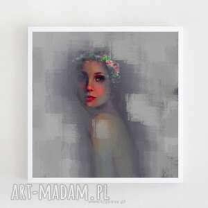 Obraz na płótnie SUPERKWIAT 100x100 cm, obraz, digitalpainting, dekoracja, wystrój