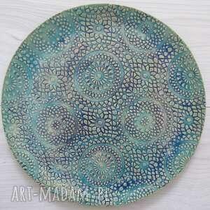 cudny ręcznie wykonany talerz, dekoracyjna patera, talerz ceramiczny, ceramiczny