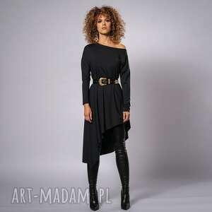 sukienki tina - asymetryczna sukienka, luźna, asymetryczna, kimonowa
