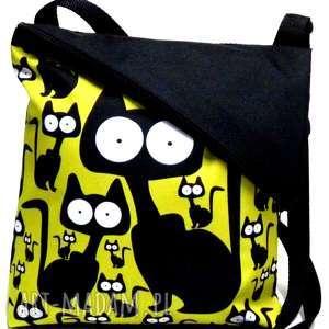 Listonoszka na ramię gaul designs koty, pojemna, torba