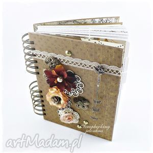 notes - pamiętnik dla pana tomasza, notes, pamiętnik, książka, retro, kwiaty, motyle