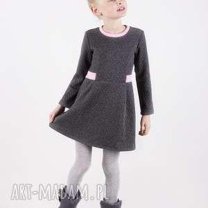 sukienka dsu02 marcy grafit, wygodna, pikowana, stylowa