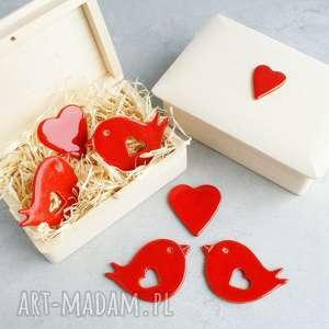 pracownia ako zamówienie specjalne, romantyczne, ptaszki, pudełko, magnesy, upominek