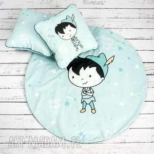 dla dziecka piotruŚ pan welurowa mata do zabawy oraz dwie poduszki, mata, dywanik
