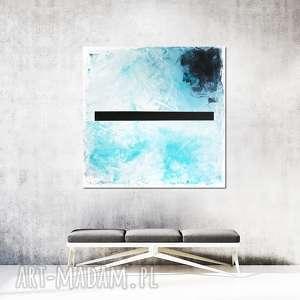 obraz olejny - czarna linia ii, olejny, malarstwo, abstrakcja, nowoczesny