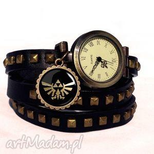 ręczne wykonanie bransoletki zelda hyrule - zegarek / bransoletka na skórzanym pasku