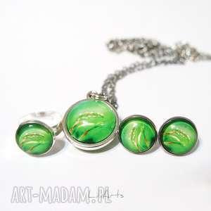 liliarts komplet - naszyjnik, kolczyki, pierścionek energia natury