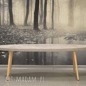 stolik kawowy kanu, stolik, kawowy, beton, drewno, loft, industrialny