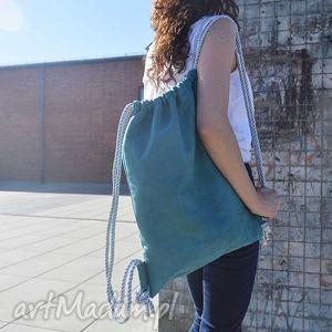 bbag ocean blue plecak worek ekoskóra, plecak, worek, skórzany, torba, laptop