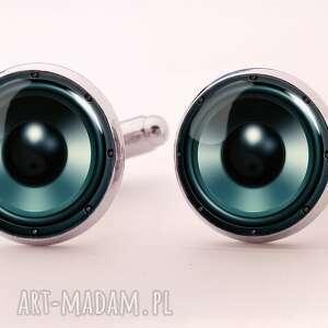 egginegg głośniki - spinki do mankietów męskie, audiofil