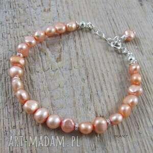 perły - delikatna bransoletka 357, perły, srebro, bransoletka