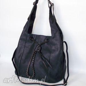 Torba na ramię granatowa, torba, torebka