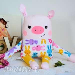ręcznie robione maskotki wesoła świnka - baśka 39