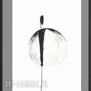 nowoczesna grafika czarno-biała, abstrakcyjna do ramki 20x30,grafika about real