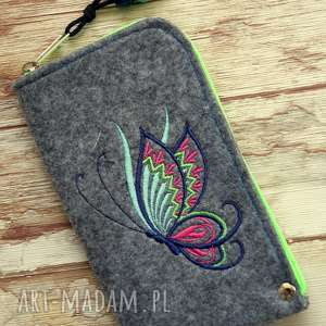 happyart filcowe etui na telefon - motylek, smartfon, pokrowiec, motyl, kolory