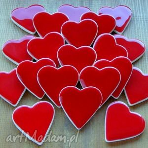 handmade ślub czerwone serduszka