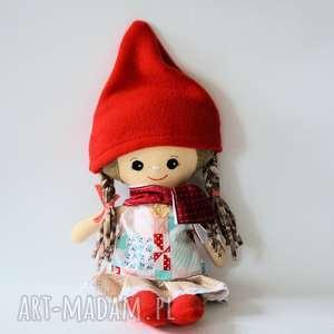 zestaw lalka wandzia i ubranka, lalka, krasnal, bezpieczna, zima, gwiazdka