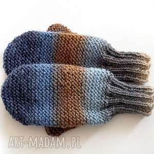Wełniane rękawiczki, rękawice, jednopalczaste,