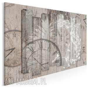 obraz na płótnie - zegar deski prowansalski 120x80 cm 32501