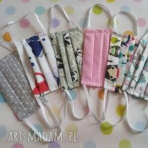 Maseczki bawełniane dla dzieci pakiet 5 sztuk maseczka akukuuu
