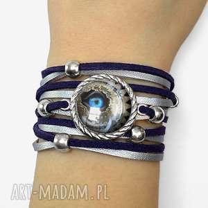 bransoletka steampunk owe oko - srebrne bransoletki, mechaniczna regulowana