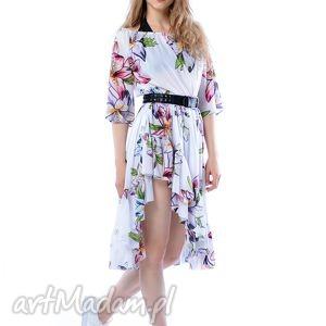 Carmen Hypnotic Lily - szyfonowa sukienka , szyfon, asymetryczna,
