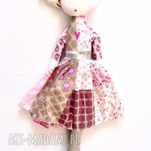 lalki sofia i lila vintage, szmacianka, retro, przytulanka, bawełna