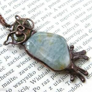 naszyjniki naszyjnik sowa z akwamarynem, kamieni, kamienie