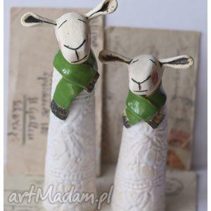 Owce duet, ceramika, owce