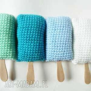 lody na patyku x4 niebieski - lody, patyk, zestaw