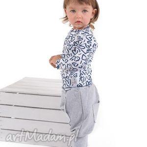 Spodnie z kieszonką i długimi ściągaczami gapula bawełna