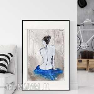 obraz ręcznie malowany 50 x 70 cm, nowoczesna abstrakcja, obrazy autorskie