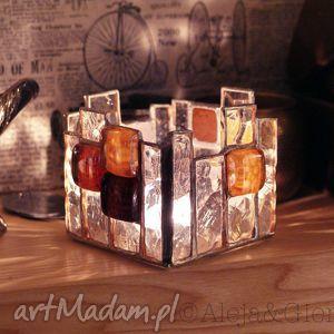witraże lampion świecznik witrażowy wieża, lampion, świecznik, witraż