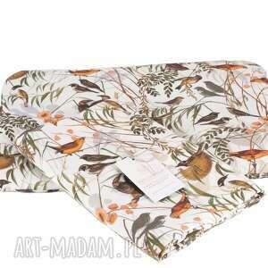 pokoik dziecka otulacz bambusowy premium ptaki leśne zestaw z poduszką