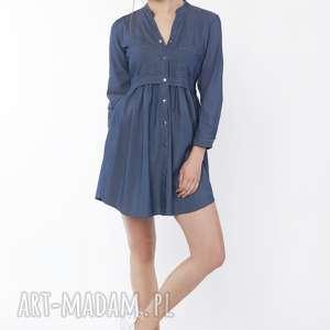 sukienka koszulowa, suk164 jeans, zwiewna, jeansowa, kobieca, dziewczęca