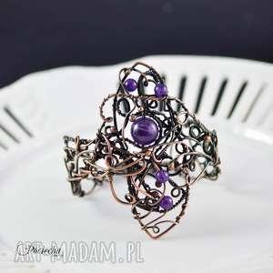 handmade bransoletki amathyst queen - bransoletka z ametystami