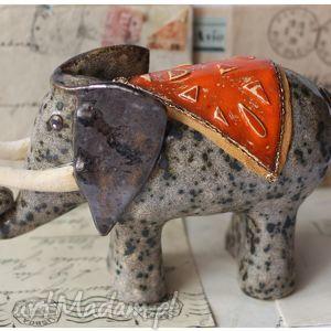 ręcznie robione ceramika słoń indyjski