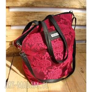 koronkowy worek, różowa, torba, torebka, koronka