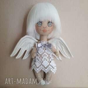Prezent Dekoracja tekstylna aniołek, anioł, unikat, malowany, prezent, urodziny