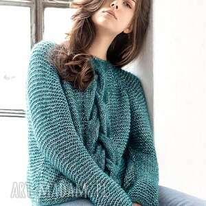 Sweter lagoa swetry b a o l sweter, wełniany, ręcznie, robiony