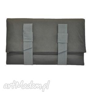 10-0009 grafitowa torebka kopertówka xxl do ręki lark, duże, markowe, torebki