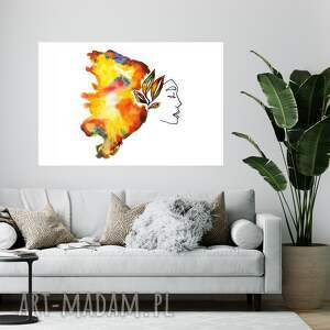 obraz - plakat 70x50 cm kolor magii, dekoracje ścienne, wydru, na ścianę