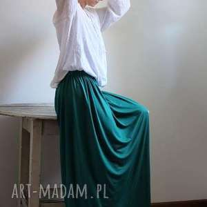 Długa zwiewna lejąca się spódnica Boho kolory, spódnica, długa, zielona, szara
