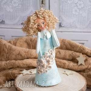 hand-made dla dziecka anioł wykonany dłońmi, z czułością. przepiękny prezent z okazji chrztu, urodzin, komunii